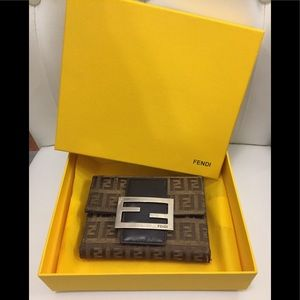 Authentic Fendi wallet and box